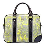 Abbi New York Carrie Print Tote44; Gray & Yellow