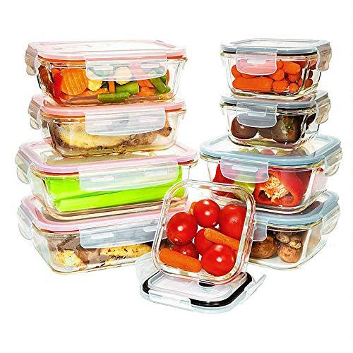Contenedores de almacenamiento de alimentos de vidrio templado con ...