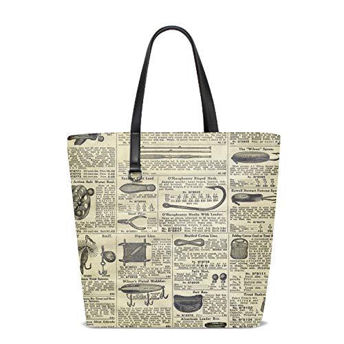 Women Handbag Old Newsprint Purse Shoulder Bag Messenger Bag Mom Bag for Women