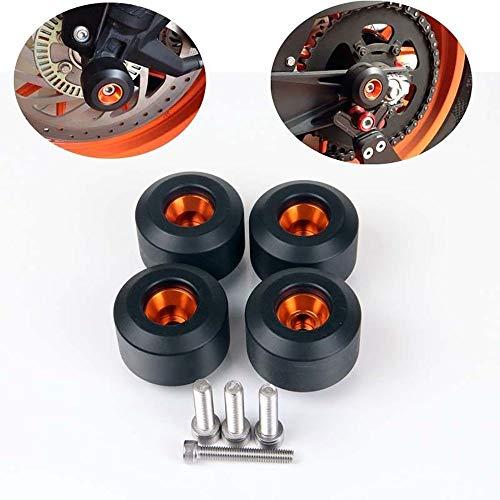 - Panel Switch 4 pcs Front&Rear Fork Wheels Frame Slider Crash Protectors for KTM RC390 Duke