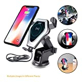 Fresh air Wireless Car Charger 10W Fast Charging for Samsung Galaxy S9/S9 Plus/S8/Note 8/5/S7,7.5W for iPhone 8/8 Plus/X, 5W for All Qi enabled Phones(No AC Adapte) (Grey)