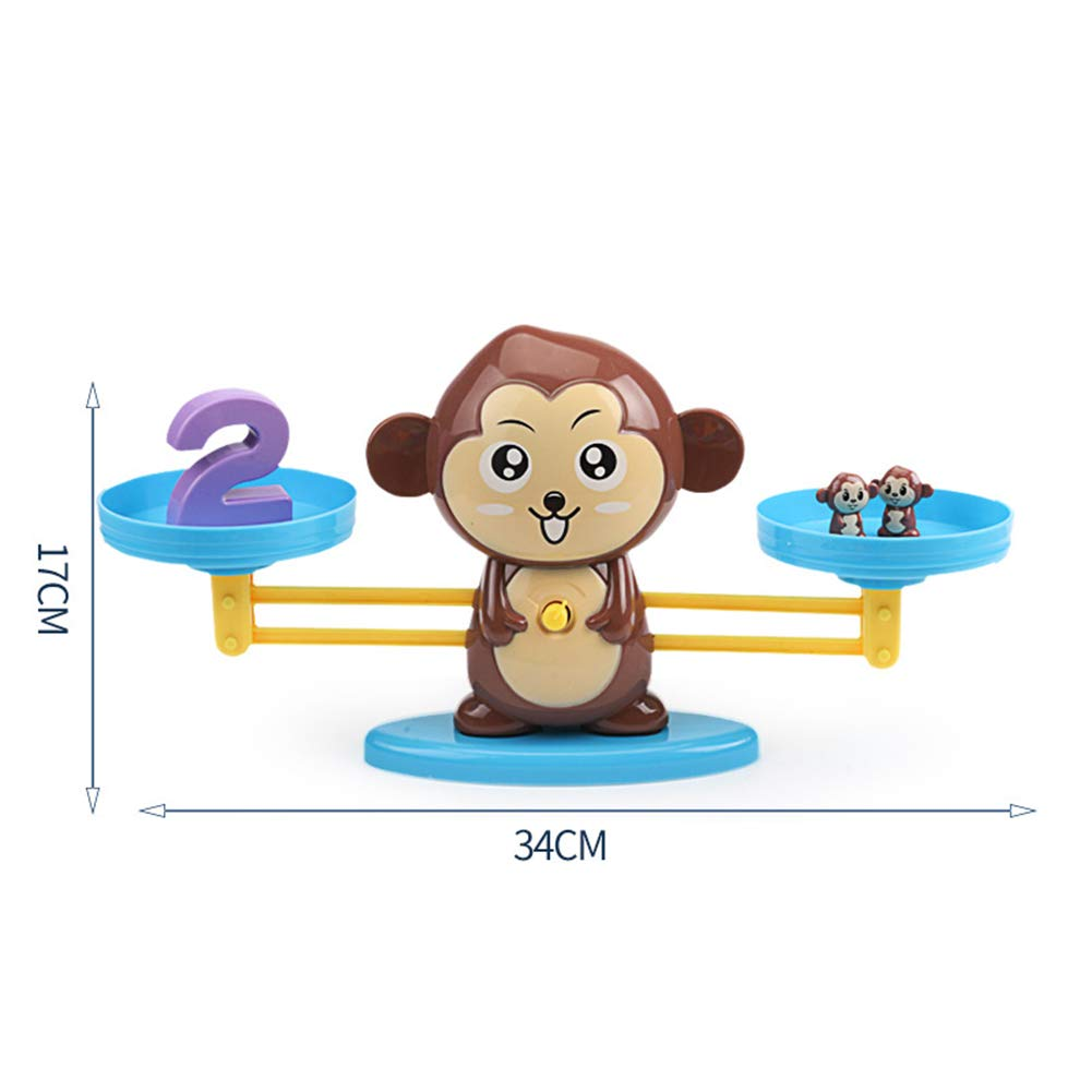 YGQersh Dessin anim/é Nombre d/équilibre Balance Math Jeu Math Toddler Early Educational Toy Chien #