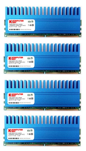 Komputerbay 8GB (4 X 2GB) DDR2 DIMM (240 pin) 1066MHZ PC2-8500 8 GB KIT with Crown Series Heatspreaders for extra Cooling CL 5-7-7-25