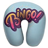 Multifunctional Neck Pillow Bingo Logo U-Shaped Soft Pillows Convertible Portable For Reading,Sleeping On Airplanes,Train,Car,and Travel