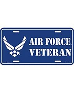 US Air Force Veteran Hap Arnold Wings License Plate (Silver)