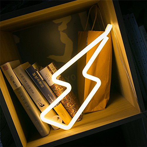 Lighting Shape Marquee Light,3D LED Battery Light,Fanciful Home Or Party Decor Sign On Wall&Table, Bedroom, Baby's room, Garden, Hallways, Patio Decor
