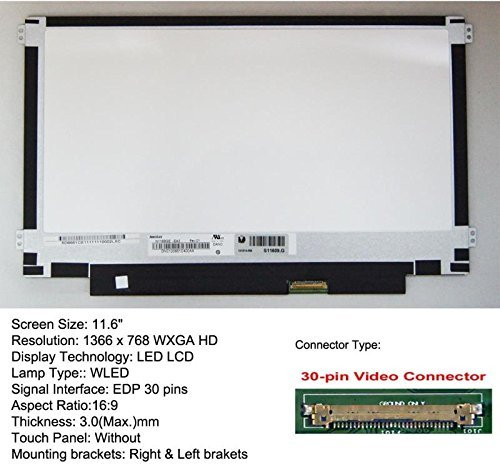 HP STREAM 11-R015WM 11.6 Inch Replacement LCD Screen for Laptop LED HD Matte Match up LCD size