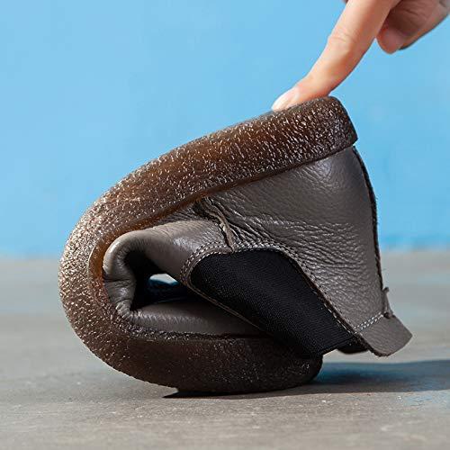 caviglia caviglia caviglia Colore in Scarpe ZHRUI ZHRUI ZHRUI con di Cammello EU Cammello pelle 36 donna grandi comfort da Dimensione Oxford dimensioni Sq7qzpw