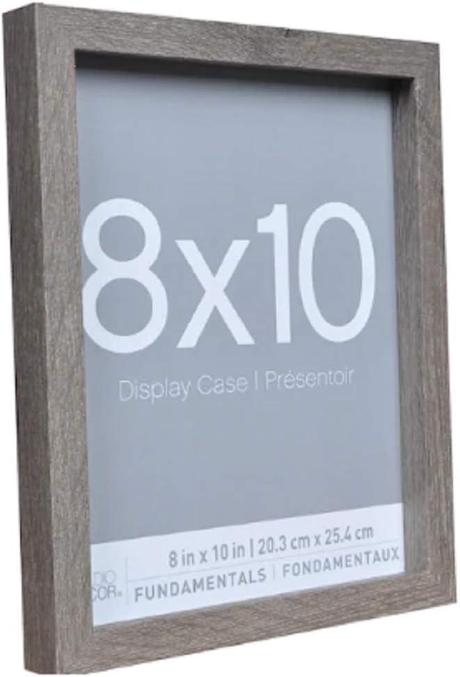 Set of Three Gray Barnwood Style Display Case Three Rustic Grey 8x10 Shadow Box