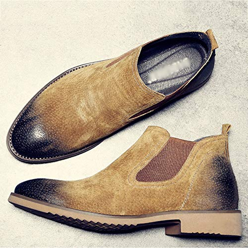 Uomo Stivaletti Pelle Inverno Martin Brown Sicurezza E Classico Matrimonio Stivali Chelsea Boots Retro Brogue Nero Autunno 5xqCw51OH