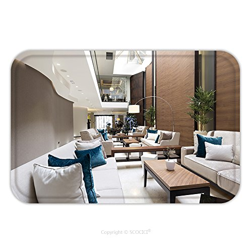 Lobby Boy Costume For Sale (Flannel Microfiber Non-slip Rubber Backing Soft Absorbent Doormat Mat Rug Carpet Hotel Lobby Cafe Interior 239485759 for Indoor/Outdoor/Bathroom/Kitchen/Workstations)