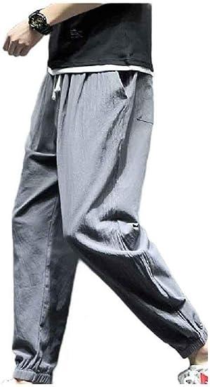 Tootess メンズ リラックス ヴィンテージ チャイニーズ スタイル ロング パンツ ハーレム パラッツォ トラウザーズ