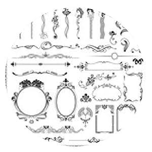 alfombrilla de ratón Conjunto del vector de elementos de diseño y decoración de página. - ronda - 20cm