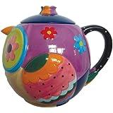 Westland Giftware 33-Ounce Cozy Owl Ceramic Teapot, 6.25-Inch