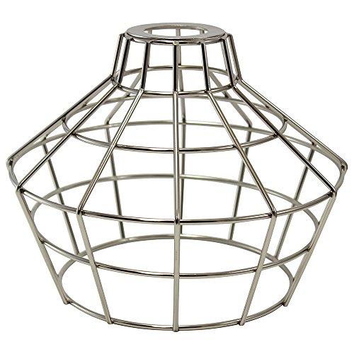 iLightingSupply 37-0114-22 Cage Premium Washer Mount Bulb Cage with Large Washer - Open Style - Polished Brasspolished Nickel