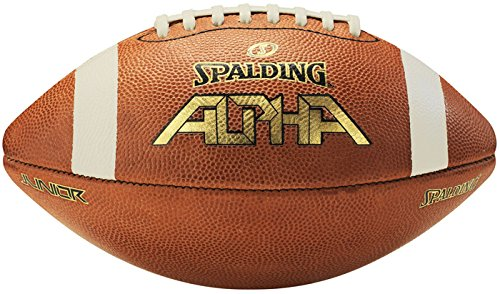 Spalding Alpha Leather Football, Light Brown/Red, (Spalding Junior Football)