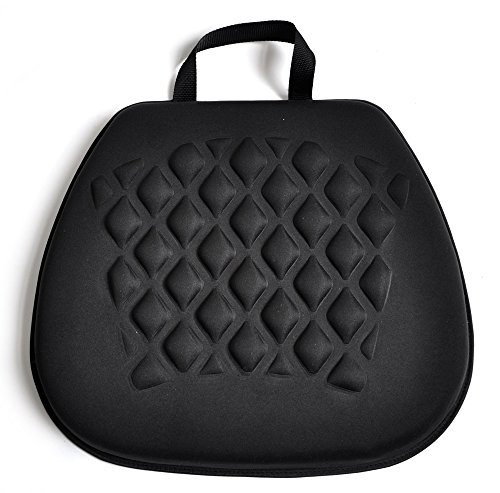 (Tektrum Portable Cool Gel Orthopedic Seat Cushion with Massage Convexes for Wheelchair, Office, Home, Car – Relief for Sweaty Bottom, Sciatica, Coccyx, Back Pain, Hip Pain, Leg Pain (GS1211-BLK))