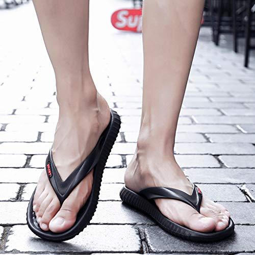 Sandali Nuovo Casual Ragazzo Pantofola Estate Da Ciabatte Man 2019 Uomo Shoes Peep Moda Elegante Party Ihengh Nero Uomini Vintage Toe dYtwWqp