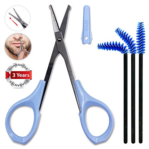 Small Nail Scissors Safety Sharp for Mustache Nose Hair Cuticle Pet's Tangled Hair Travel Grooming Sewing with Protective Cap by Tidawave (Pet Grooming Tools Scissors Nail)