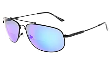 09335ab21732 Eyekepper Bifocal Reading Sunglasses Bendable Memory Sun Readers Women Men  (Black Frame Green Mirror