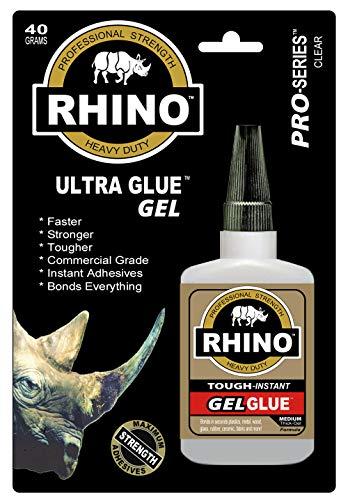 Rhino Glue Gel,Heavy Duty 40 Gram Clear (Best Glue For Car Interior)