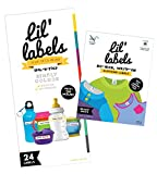 Daycare Labels Value Pack - Bottle Labels (Simply Colors) and Clothing Labels (Bright White), Waterproof Labels