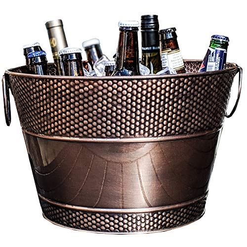 BREKX Old Tavern Copper Finish Antique Ice & Wine Bucket - Bronze