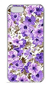 Purple Pattern Customized Popular DIY Hard Back Case Cover For iPhone 5 5S Hard Transparent
