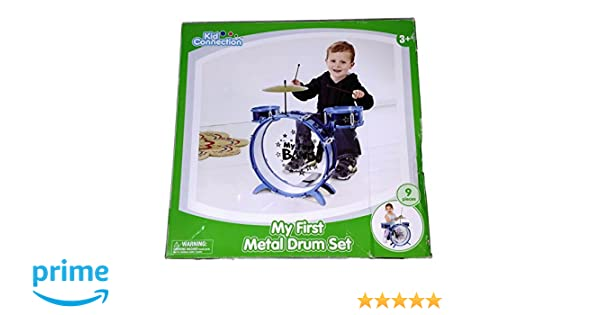 Amazon Com Kid Connection My First Metal Drum Set Toys Games