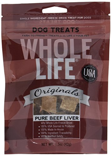 Whole Life Pet Original Beef Liver Treats for Dogs, 1.5-Ounce