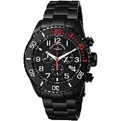 Zeno Men's 6492BK-A1M Divers Black Quartz Dial Watch