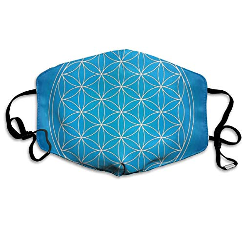 TRUSTINEEB Flower of Life Grid Pattern Consisting Breathe Healthy Dust,Allergy & Flu Mask Comfortable,Washable Protection from Dust,Pollen,Allergens,Cold & Flu Germs with Antimicrobial Asthma Mask - Comfortable Grid Pattern