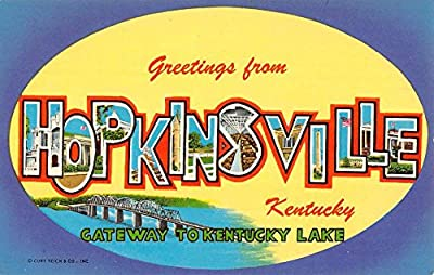 Hopkinsville Kentucky Large Letter Greeting Vintage Postcard K96494