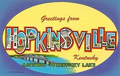 Hopkinsville Kentucky Large Letter Greeting Vintage Postcard K96494