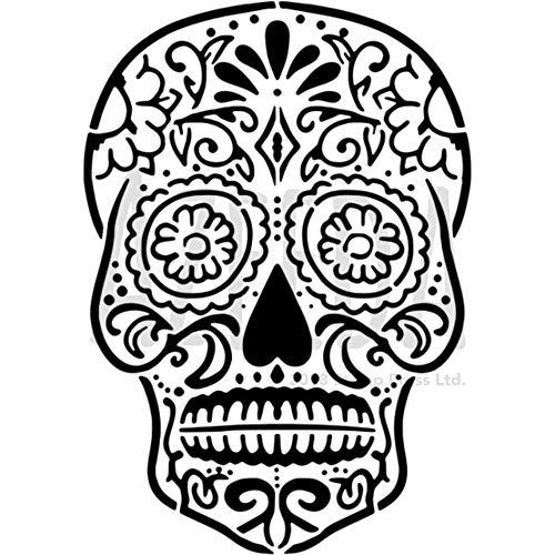 A5 'Sugar Skull' Wall Stencil / Template (WS00032984)]()