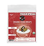 Organic Veggie Wraps -Mini Raw Vegan Spicy Flat Bread Perfect for Wraps, Sandwiches, Crackers, Side Bread or a Simple Snack