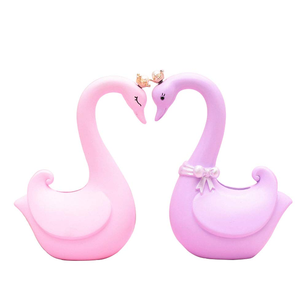 ADbank Resinic Piggy Bank Coin Storage, Money Box Swan Gifts for Children Friends, Also Ornaments for Room Decorations,Small by ADbank