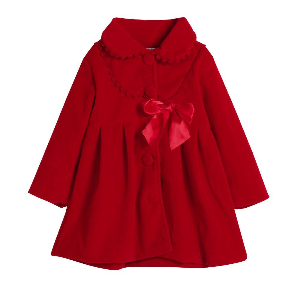 Chaquetas Beb/é Ni/ña peque/ño Ni/ños Ni/ñas Oto/ño Invierno Capa Chaqueta Abrigo Gruesa Ropa de Abrigo Camisas Outwear 2-6 A/ños Modaworld