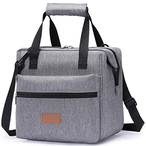 Lifewit Lunch Bags Lunchbox Adult Insulated for Women, Water-Resistant Leakproof Small Cooler Bento Bag for Work/School/Meal Prep, Grey