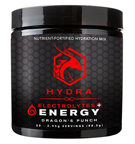 Six Nutrition - Hydra Energy + Electrolytes Drink Mix, Dragon's Punch, 30 Servings Power Carb Drink Mix