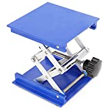 100*100mm Aluminum Lab Jack Scissor Rack Lab-Lift Lifting Platforms Stand 5KG by Anddas