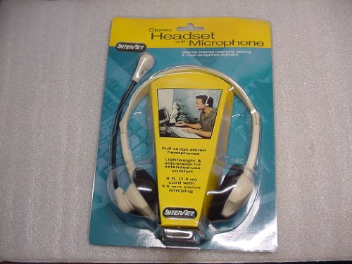 Interact Stereo Headset with Microphone for Internet Telephony, Gaming & Voice Recognition Software.