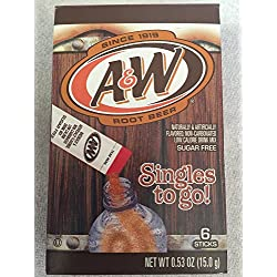 12 box Lot A & W Root Beer Singles to Go 6 packets per box (72 total packets) Only 5 calories per serviing