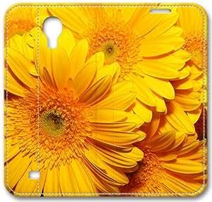 Overlap Flower Macro S4 Case, Samsung Galaxy S4 I9500 Case, Leather Cover for Samsung Galaxy S4 / S 4/ S IV