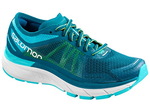 Salomon Women's Sonic Ra Max W Road Running Shoes Blue (Blue Curacao / Deep Lagoon / Safety Yel 000) ncGGrI
