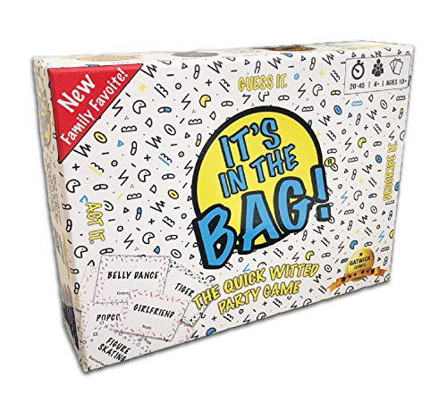 It's in The Bag! - Newest Game for Family! for Adults! for Parties! Laugh Out Loud in This Game of Teamwork. Describe, Guess & Charades! Act Fast in This Popular Quick-witted Card Game! 4-20 Players! -