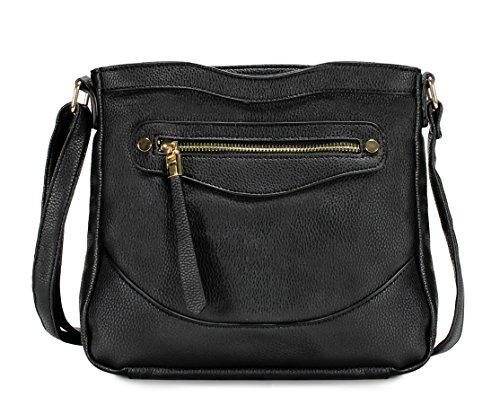 Scarleton Simple Front Zip Crossbody Bag H1956