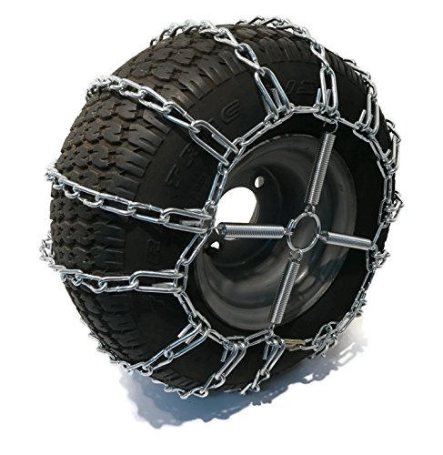 The ROP Shop 2 Link TIRE Chains & TENSIONERS 18×9.5×8 for Sears Craftsman Lawn Mower Tractor