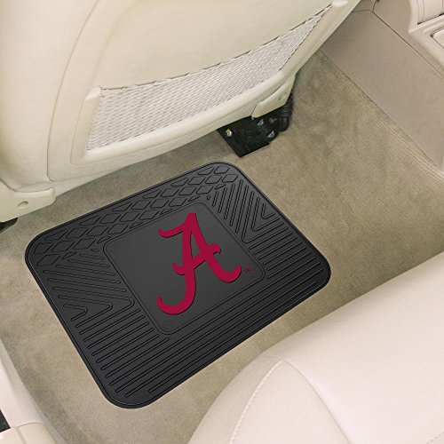 Alabama Crimson Tide UA NCAA Heavy Duty Vinyl Rear Seat Car Utility Mat - Alabama Utility Mat