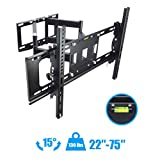"TV Wall Mount Articulating Full Motion15°Tilt 160°Swivel For 50""55""60""65""70""75"" New"